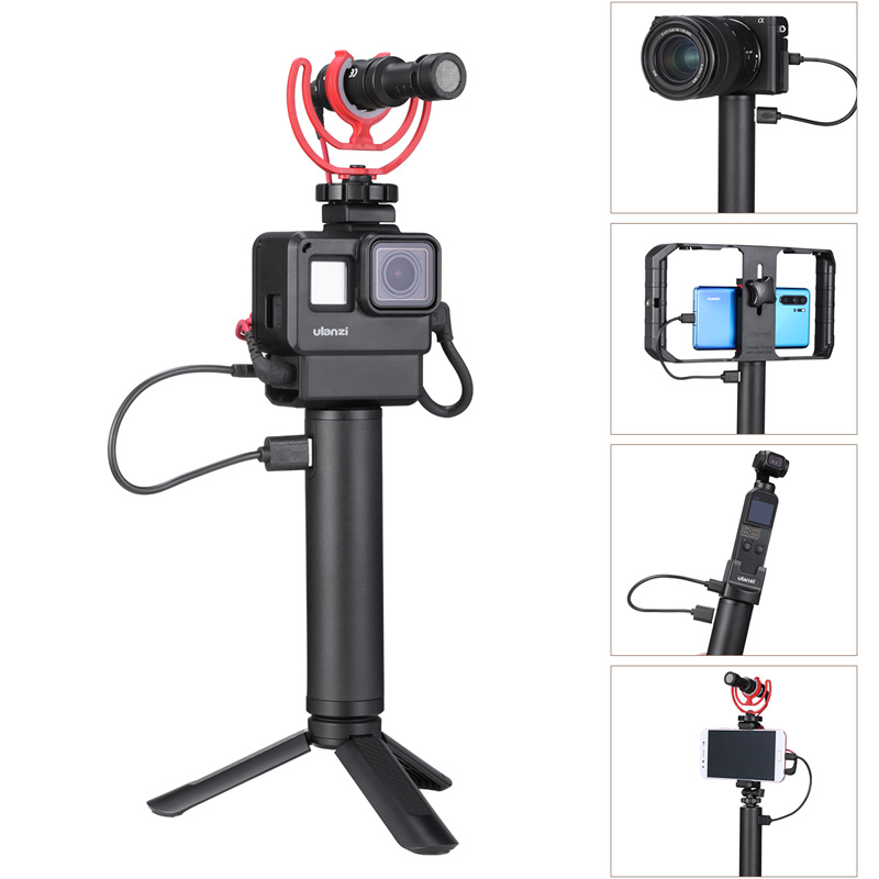 Image 2 - Ulanzi BG 1BG 2 5200mAh Power Stick Action Camera Hand Grips for Gopro 7 6 5 Osmo Action Osmo Pocket Universal Power Grip-in Sports Camcorder Cases from Consumer Electronics