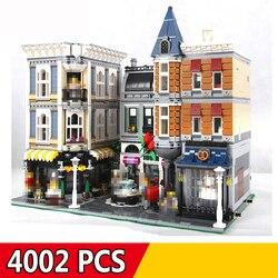 Kompatibel Legoings Stadt Street View Serie 15001 15002 15003 15004 15005 15006 15008 15009 15010 15011 15019 15042 Gebäude