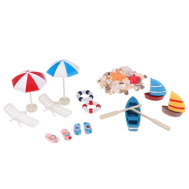 1:12Dollhouse Miniature DIY Model Toys Scene Accessories Beach Bucket OrnamentCH