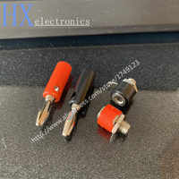 Free shipping 10PCS Audio Speaker Wire Banana Plug Connectors 4mm Adapter Real Cable Entry
