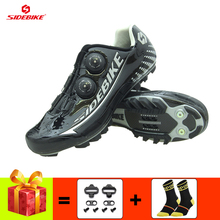 SIDEBIKE Carbon fiber cycling shoes men ultra-light mountain bike sneakers sapatilha ciclismo mtb breathable self-locking  shoes sidebike cycling shoes road men carbon sapatilha ciclismo mtb bike shoes zapatos bicicleta sneakers self locking white 2019 new
