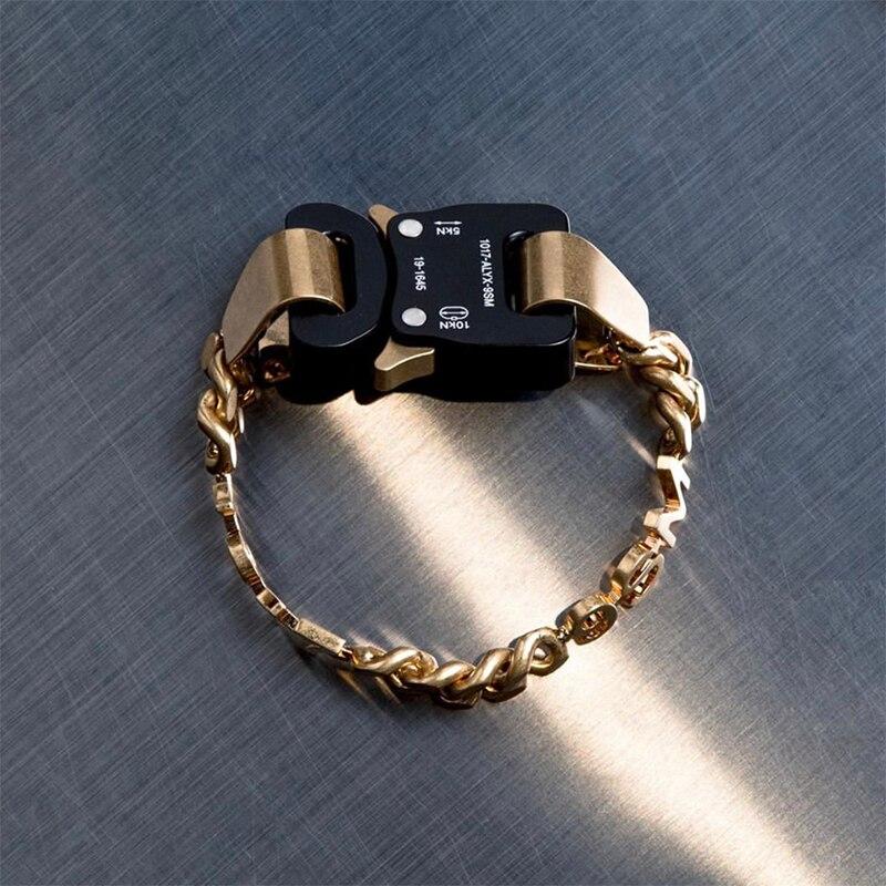 Массивное ювелирное изделие 1017 года, браслет из Аликс 9 см, браслет Bnagle в стиле хип хоп, высокопроизводительный дизайн, вечерние, рождественс