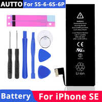 100% High Capacity Phone Battery for iPhone 6S battery SE 5S Replacement Built-in ion Battery for iPhone 6 6Plus with Tool Kit