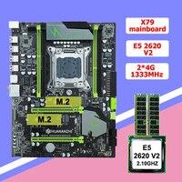 Rabatt HUANAN ZHI X79 LGA2011 motherboard mit M.2 slot CPU RAM combos Xeon E5 2620 V2 CPU 8G (2*4G) DDR3 RECC 2 jahre garantie|Motherboards|   -