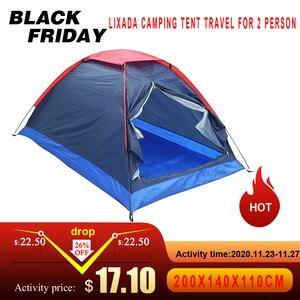 Image 1 - Lixada namiot kempingowy podróż dla 2 osób namiot na zimowe namioty wędkarskie odkryty Camping piesze wycieczki z torba do przenoszenia 200x140x110cm