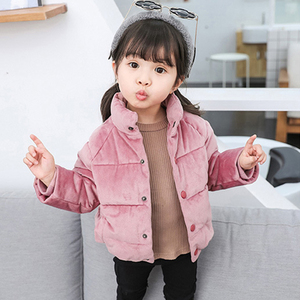 Image 5 - Kids Gold Velvet Down Coat 2018 Winter Baby Girls & Boys Jacket Warm Boys Outerwear Autumn Toddler Kids Clothes 1 2 3 4 5 Years