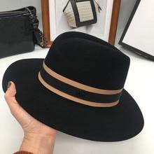 O chapéu de lã nova inglaterra em forma de moda retro m chapéu e o vento e maré. Chapéu all match