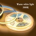 UBARO COB светодиодный светильник полосы Мощность 50 Вт 5 м 384 светодиодный s/m высокой плотности гибкие RA90 3000K 4000K 6000K с регулируемой яркостью для ...
