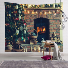 Printed Blanket Tapestry-Carpets Merry-Christmas Wall Gift Fuwatacchi 150x130cm Xmas