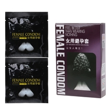 2pcs Female Condoms Adult Sensitive Orgasm Latex Stimulate Condom for Women dropshipping