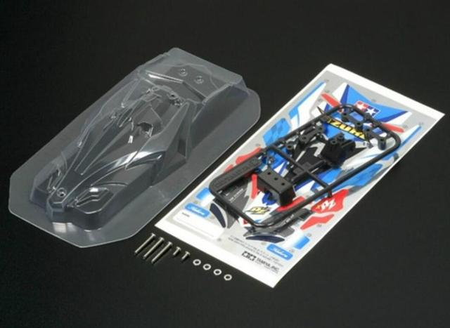 Soft Car Case FMA/MS Chassis Clear Car Shell Cover Housing for Tamiya Mini 4WD Car Models 18613/MK3 95445/XTO 95439/95394/95405