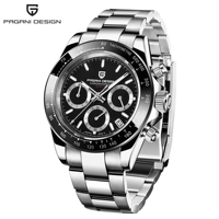 PAGANI DESIGN white blue Men's Watches Quartz Business watch Mens Watches Brand Luxury Watch Men Chronograph Relogio Masculino