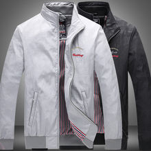 Куртка мужская демисезонная с воротником стойкой в деловом стиле