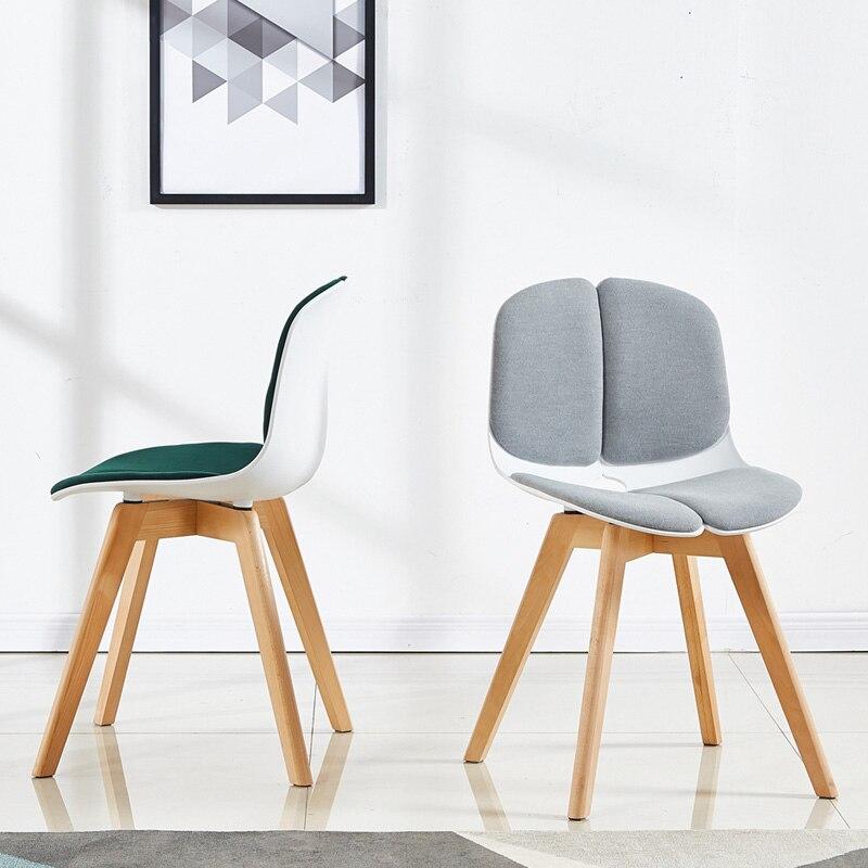 Nordique en bois massif en plastique à manger chaise Restaurant pour salle à manger bois bouleau artisanat Restaurant étude affaires chaise en bois