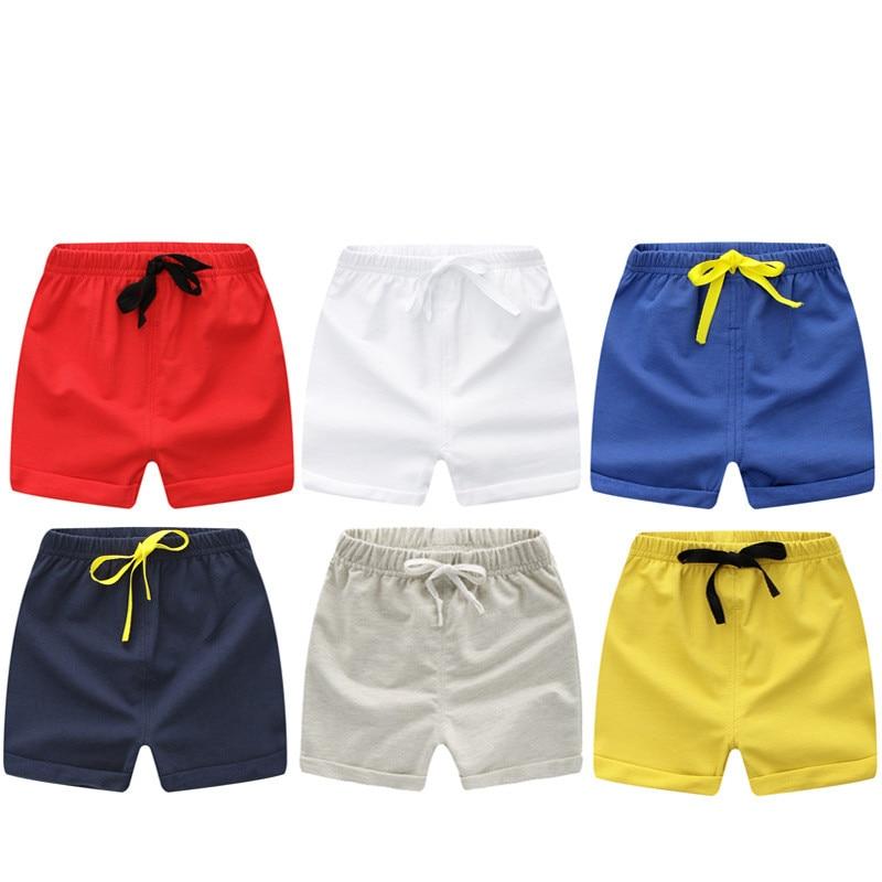 Летние детские шорты, хлопковые шорты для мальчиков и девочек, брендовые шорты, трусики для малышей, детские пляжные шорты, спортивные брюки...