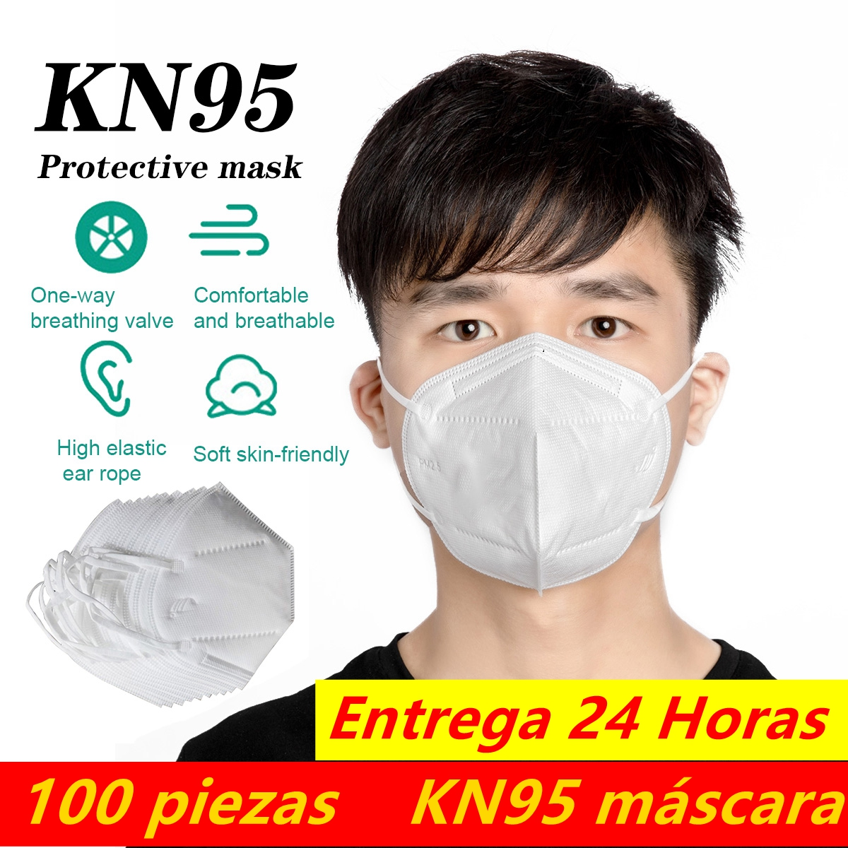 Mascaras Entrega 24 Horas KN95 Dustproof Anti-fog And Breathable Face Masks 95% Filtration KN95 Masks