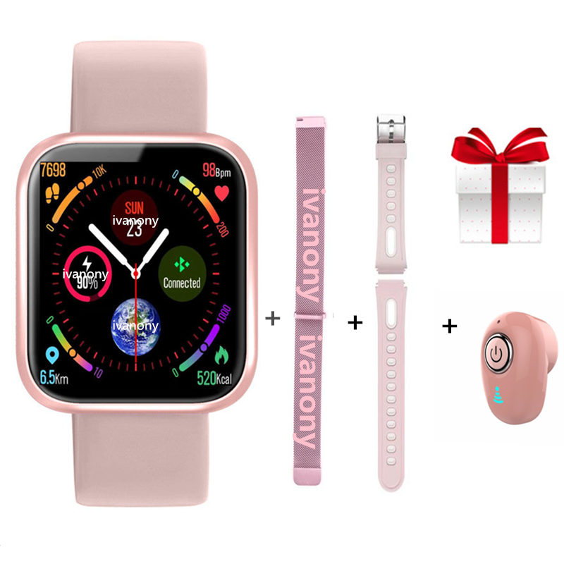 Smart Watch <font><b>P70</b></font> +Straps+Earphone Fitness Bracelets IP68 Waterproof Blood Pressure Heart Rate Women <font><b>Smartwatch</b></font> For IOS Android image