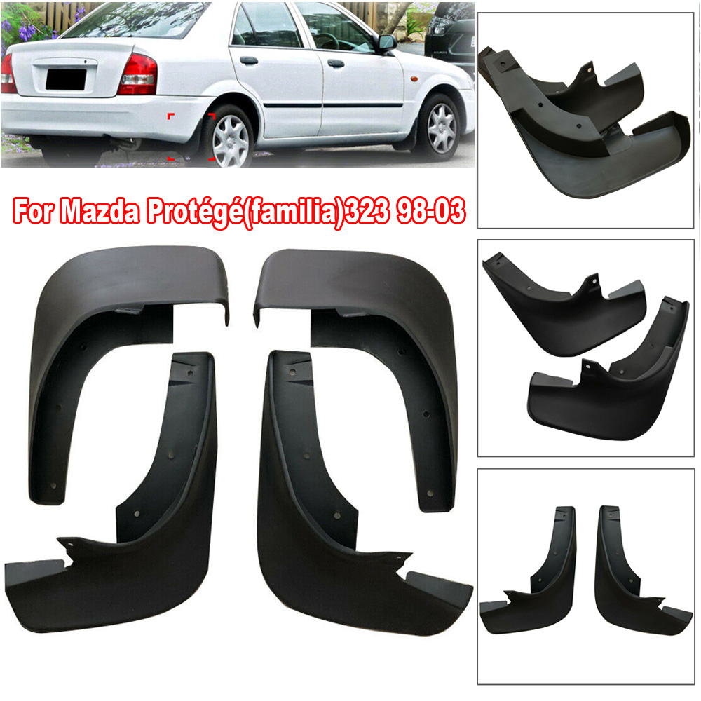 4pcs New Car Styling Front&Rear  Mudguard Mud Flap Splash Guard Mudflaps For Mazda Protege 323 98-03 Replace Auto Accessories