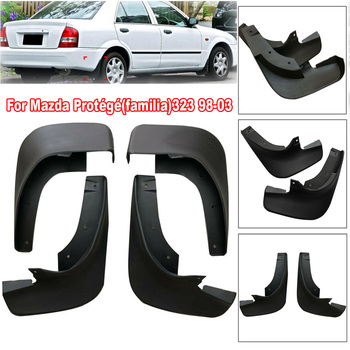4pcs New Car Styling Front&Rear  Mudguard Mud Flap Splash Guard Mudflaps For Mazda Protege 323 998-03 Replace Auto Accessories