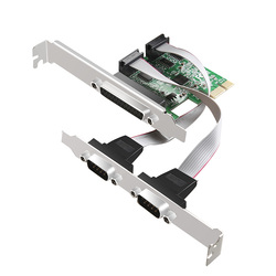 DIEWU 2 porty RS-232 Port szeregowy Port równoległy drukarki COM i DB25 LPT do PCI-E pci express adapter do kart konwerter asix ax99100
