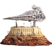 New Star Destroyer cruise ship Wars Compatib Lepining MoC- 18916 DIY The Empire Over Jedha City Building Block toy for Children new starwars destroyer cruise ship star plan the empire over jedha city building blocks bricks toys for christmas gift 05027