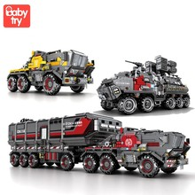 Military Carrier Truck Building Blocks Children Educational Constructor Toys Technic Car Bricks for Boys with Figure