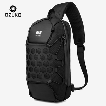 OZUKO New Men Chest Bag Anti Theft Crossbody Bag for Mens USB Charge Sling Bag Outdoor Male Chest Pack Short Trip Messenger Bags