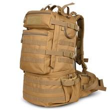 Sac à dos militaire classique, sacoche militaire étanche en Nylon 50l, randonnée camping Camouflage, grande capacité pour hommes