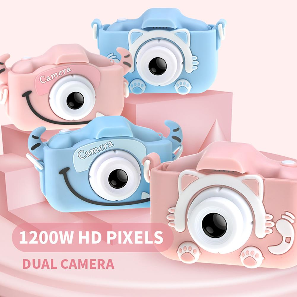 Hadf9e5f928d04ca68092fa23c19f82f2e Mini Cartoon Kids Camera Creative Children's Camera HD Digital Camera Portable 1080P Camera For Kids Birthday Christmas Gift