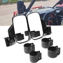 """Utv corrida retrovisor espelho retrovisor vista lateral 1.75 """"/2"""" braçadeira ajustável apto para polaris xp1000 e xp1000 4 seater 1.75 """"gaiola"""