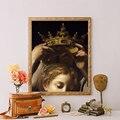 Портрет женщины короны, измененные художественные принты, античная Настенная картина, ВИНТАЖНЫЙ ПЛАКАТ, галерея, украшение, эклектическая ...