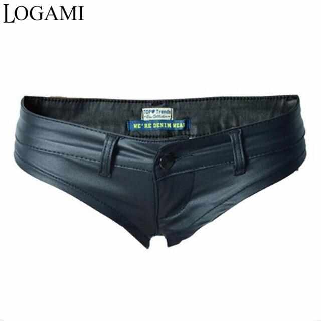 Sexy Shorts Womens Low Waist Short Shorts Pu Mini Shorts 2021 1