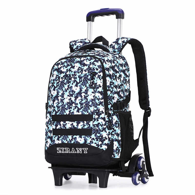 Children School Bags with 3/2 Wheels bags Removable Child Trolley Schoolbags Boys Girls Rolling Backpack kids Wheeled Bookbags