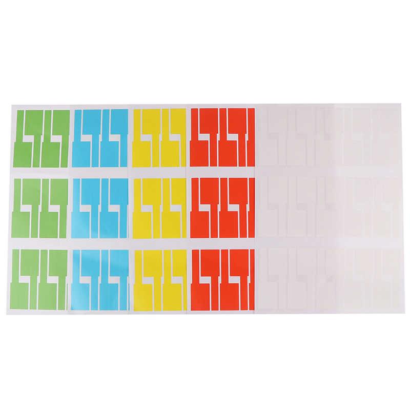 30 Uds./hoja autoadhesiva impermeable pegatina para cable etiquetas identificativas organizadores etiquetas identificativas coloridas