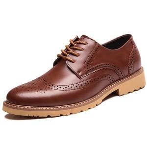 Image 2 - קלאסי גברים מבטא אירי נעלי יוקרה בריטי שמלת נעלי עסקים בולוק עור נעליים באיכות גבוהה זכר הנעלה 2019 Dropshipping
