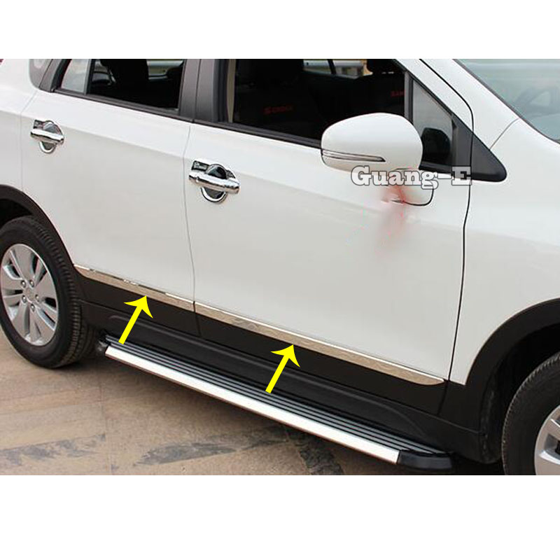 For <font><b>Suzuki</b></font> S-Cross <font><b>SX4</b></font> 2017 <font><b>2018</b></font> 2019 2020 Car Cover Stainless Steel Side Door Body Trim Frame Stick Strip Streamer Molding image