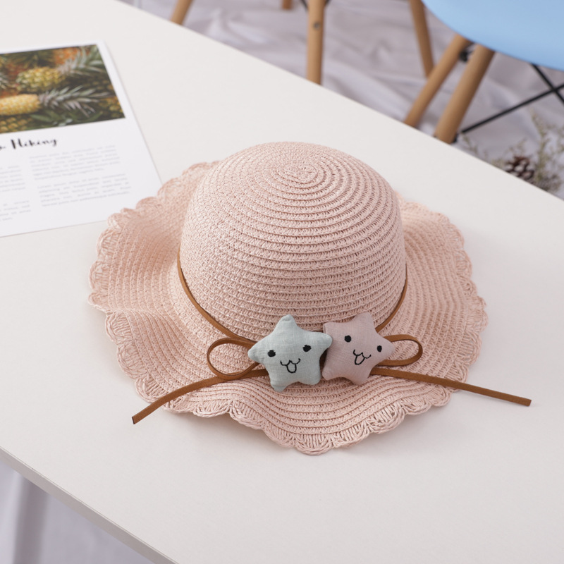 2020 New Straw Hat Kids Summer Hats For Baby Girl Boy Sun Visor Hat Child Beach Panama Cap Gorros