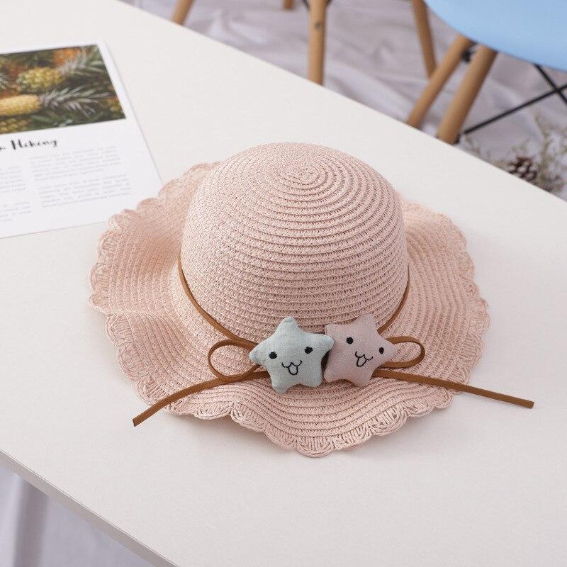 2020 New Straw Hat Kids Summer Hats For Baby Girl Boy Sun Visor Hat Child Beach Panama Cap Gorros