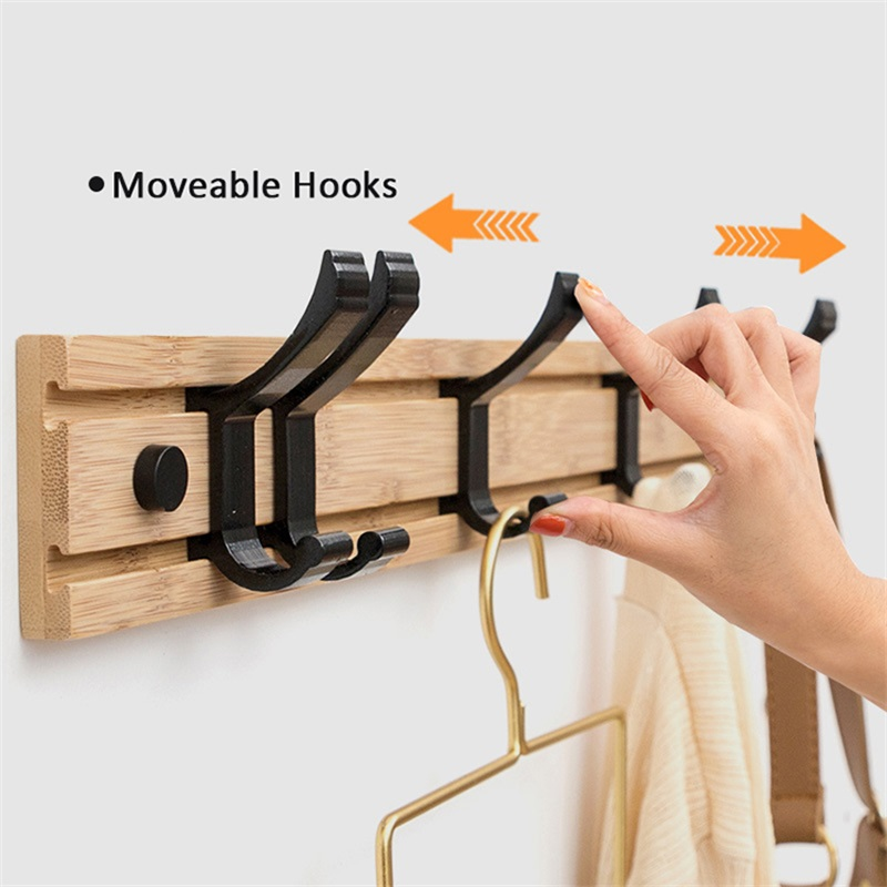 Nordic Fashion Style Bedroom Furniture Coat Rack Clothes Hanger Hooks Living Room Closet Bamboo Hat Racks Coat Hanger Wall Hook