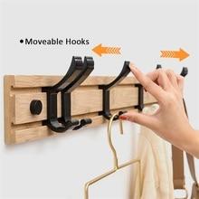 Coat Hanger Clothes-Hanger-Hooks Rack Furniture-Coat Wall-Hook Closet Bedroom Bamboo