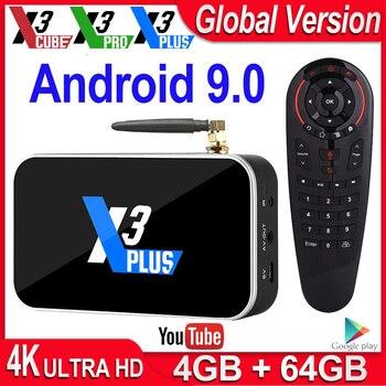 Ugoos X3 Pro TV BOX Android 9.0 S905X3 TV Box X3 Cube 2GB 16GB Media Player X3 Plus 4GB DDR4 64G ROM 2.4G/5G WiFi 1000M 4K TVbox