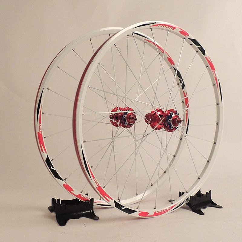 Original RT RA2 26er Alloy  MTB Bike Wheelset Super Light 24 Holes Disc Brake Bicycle Wheelset Bearing Hub Wheels Bike Parts