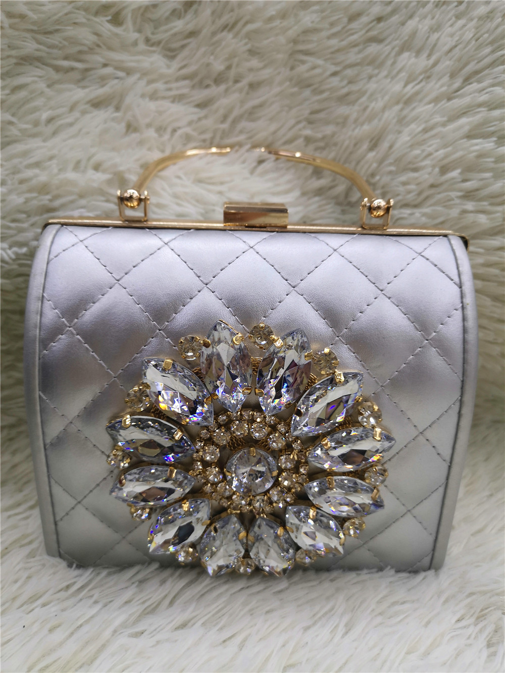 Chaliwini Clutch Bag Ladies Clutch Purses Bridal Evening Crystal Summer Bags For Women 2019 Luxury Small Cross Body Bags