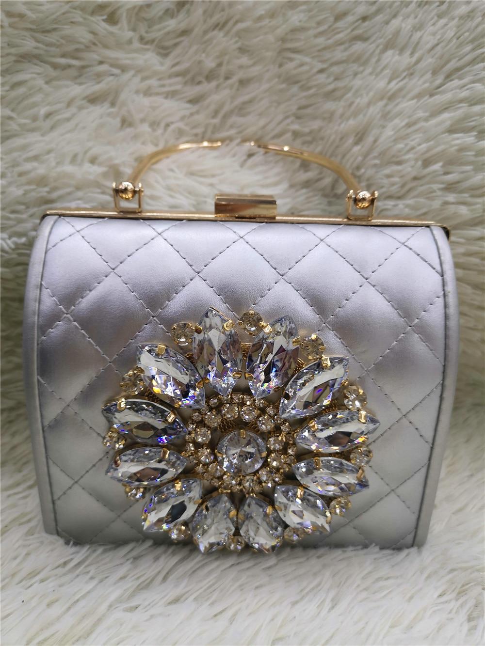 Chaliwini Clutch Bag Ladies Clutch Purses Bridal Evening Crystal Summer Bags For Women 2019 Luxury Small Cross Body Bags