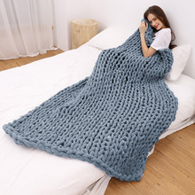Fotografia nórdica cobertor decorativo chenille chunky malha cobertor tapete de área super grosso macio manual tecelagem cobertor d30