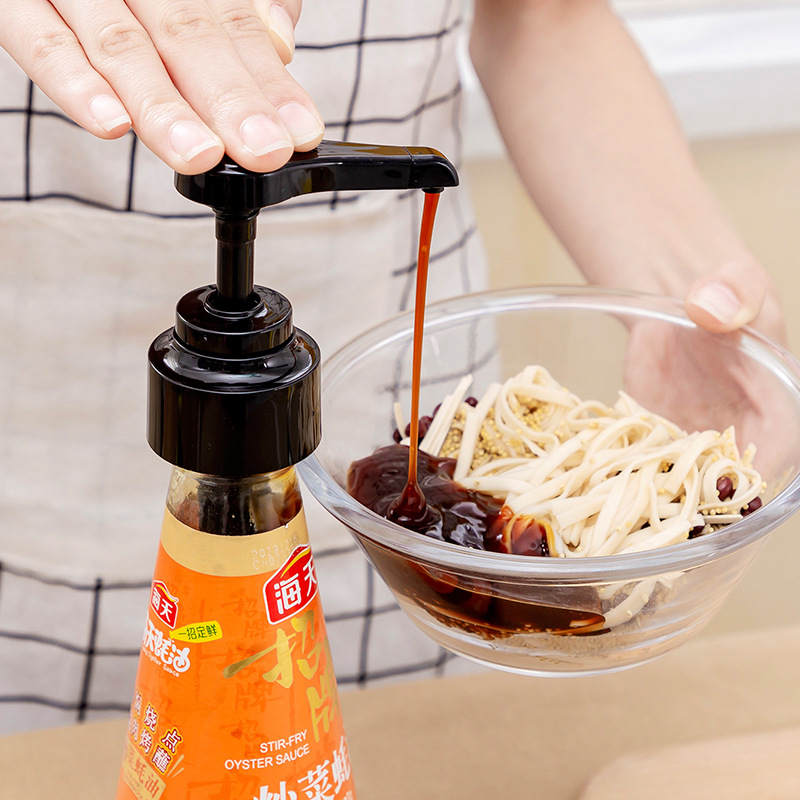 Oyster Sauce Bottle Pressure Nozzle Pump Head Extruder Household Quantitative Oil Consumption Squeeze Oyster Sauce Artifact image