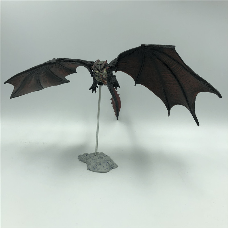 19cm Game of Thrones Season 8 Viserion Ice Dragon Joint Movable PVC Figure Night's King Knight Model Collective Toys