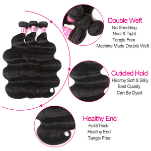 Image 5 - UNice Hair Company Indian Hair Body Wave Human Hair Bundles 1 Piece Remy Hair Extensions Weave 8 30inch Can Mix Any Length