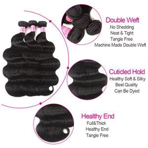 Image 5 - Unice Haar Bedrijf Indian Haar Body Wave Menselijk Haar Bundels 1 Stuk Remy Hair Extensions Weave 8 30 Inch kan Mix Elke Lengte