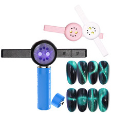 Cat Eye Nail Magnetische Stok 2 In 1 3W Droger Mini UV LED Lamp USB Kabel Curing Zwarte Kleur magneet Gel Tool Nail Art Accessoires(China)